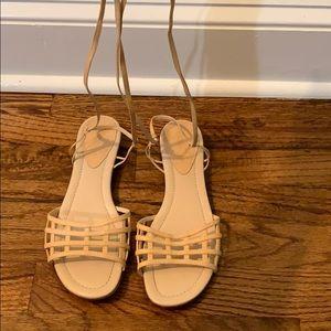 Fendi Nude Gladiator Sandals
